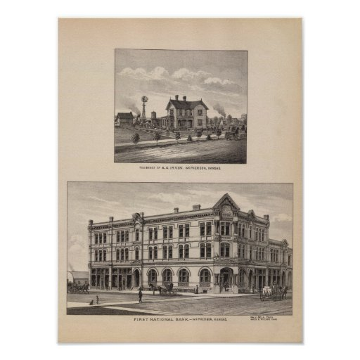 Primeiro National Bank, Kansas Impressão
