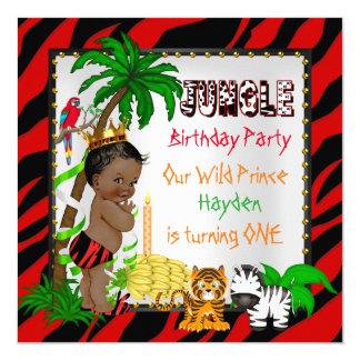 Primeiro príncipe selvagem Étnico do safari de Convite Quadrado 13.35 X 13.35cm