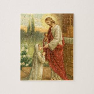 Primeiro quebra-cabeça do comunhão: Eucaristia em