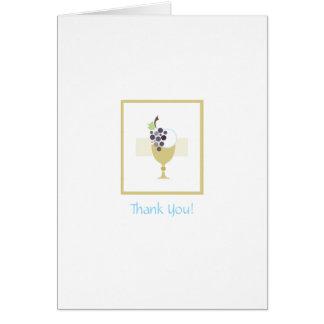 Primeiros cartões de agradecimentos do comunhão
