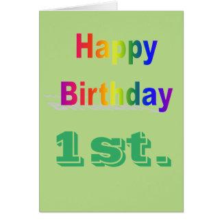 Primeiros cartões de aniversários felizes