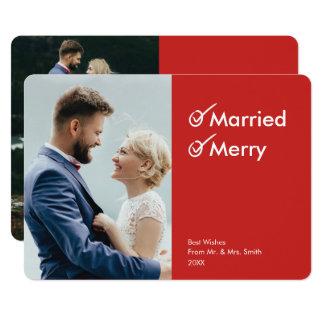 Primeiros cartões de foto de Natal casado e da