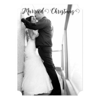 Primeiros cartões de foto de Natal casados do Convite 12.7 X 17.78cm