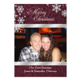 Primeiros cartões de foto de Natal chiques de Convite 12.7 X 17.78cm