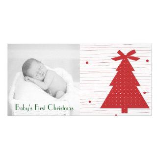 Primeiros cartões de foto de Natal customizáveis