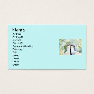 Primeiros cartões de visitas do Pedicure