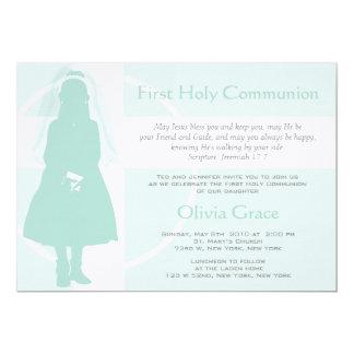Primeiros comunhão e anúncio - menina convite 12.7 x 17.78cm