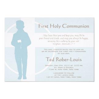 Primeiros comunhão e anúncio - menino convite 12.7 x 17.78cm