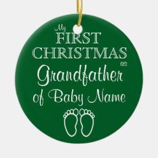 Primeiros enfeites de natal personalizados da avó