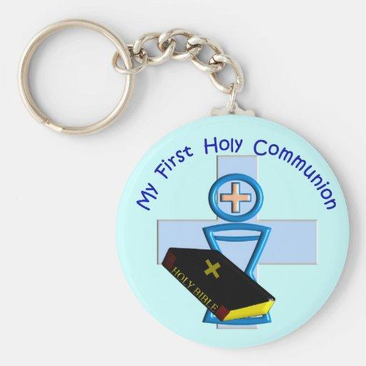 Primeiros presentes do comunhão santamente para mi chaveiro