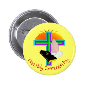 Primeiros presentes do dia do comunhão santamente botons