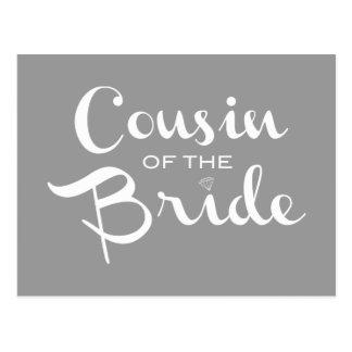 Primo do branco da noiva no cinza cartões postais