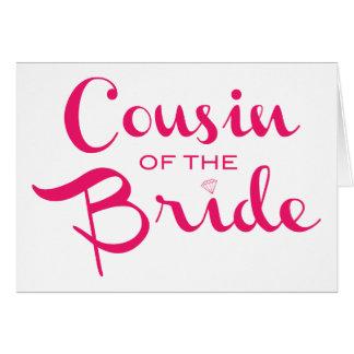 Primo do branco do rosa da noiva cartão comemorativo