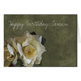Primo do feliz aniversario cartão