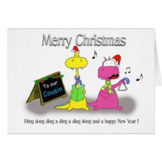 Primo do Feliz Natal Cartão