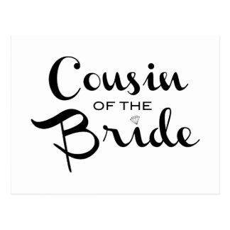 Primo do preto da noiva no branco cartões postais