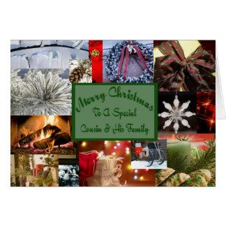 Primo especial e seu Natal da família Cartão Comemorativo
