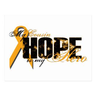 Primo meu herói - esperança da leucemia cartão postal