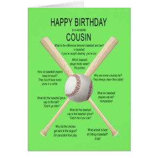 Primo, piadas do basebol do aniversário cartão comemorativo