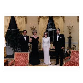 Prince_Charles, _Princess_Diana, _Nancy_Reagan, Cartão Postal
