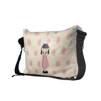 Princesa a bolsa mensageiro dos desenhos animados