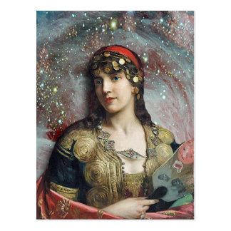 Princesa aciganada, arte alterada cartão postal