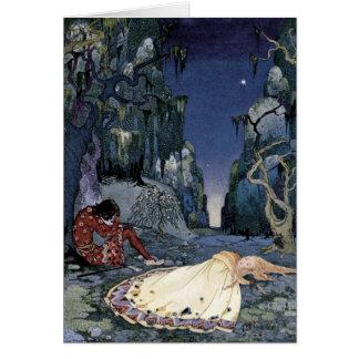 Princesa Adormecido na floresta Cartões