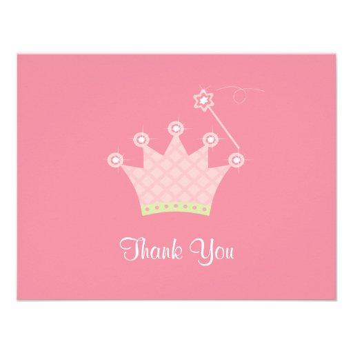 Princesa Agradecimento Você Nota Convites