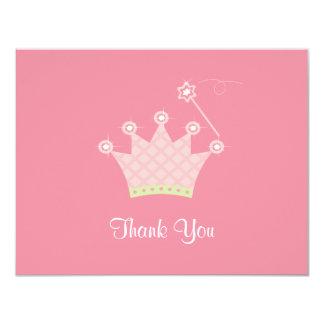Princesa Agradecimento Você Nota Convite 10.79 X 13.97cm