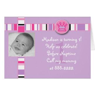 Princesa Aniversário Convite Cartão Comemorativo