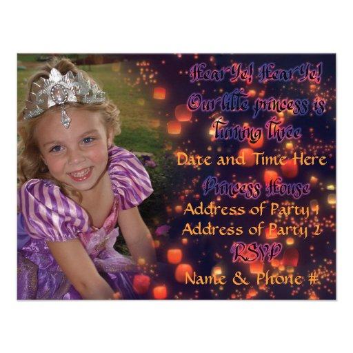 Princesa Aniversário Convite da criança de 3 anos