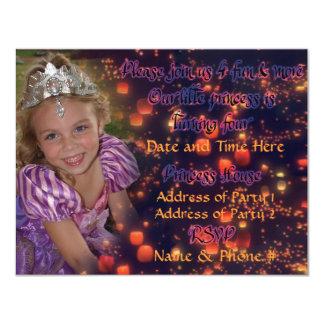 Princesa Aniversário Convite da criança de 4 anos