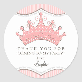 Princesa Aniversário Cor-de-rosa Coroa Adesivo