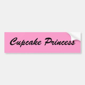 Princesa autocolante no vidro traseiro do cupcake adesivo para carro