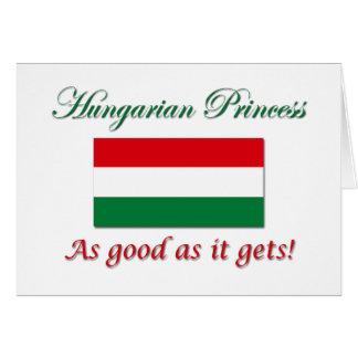 Princesa-Bom húngaro como Cartoes