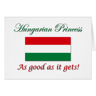 Princesa-Bom húngaro como Cartão Comemorativo