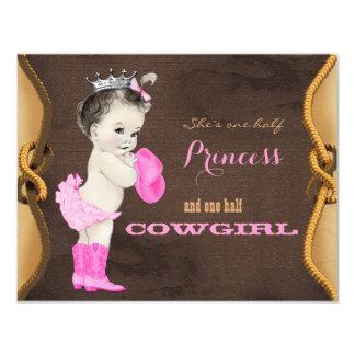 Princesa bonito chá de fraldas da vaqueira convites personalizado