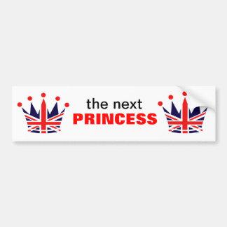 Princesa britânica Coroa Adesivo