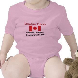 Princesa canadense bonita babador