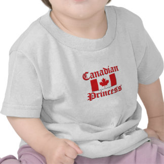 Princesa canadense camiseta