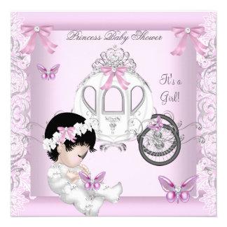 Princesa Carruagem da menina do chá de fraldas da Convite