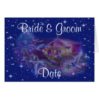 Princesa Carruagem Tema Casamento Convite