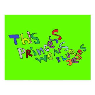 Princesa Cartão Cartão Postal