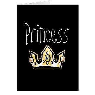 Princesa Cartão Comemorativo