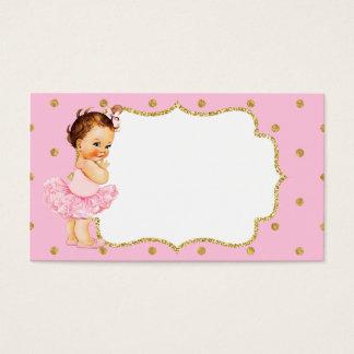 Princesa cartão de visita do bebé do vintage