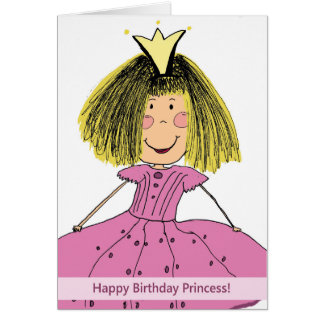 Princesa Cartão do feliz aniversario