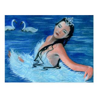 Princesa Cartão do lago swan