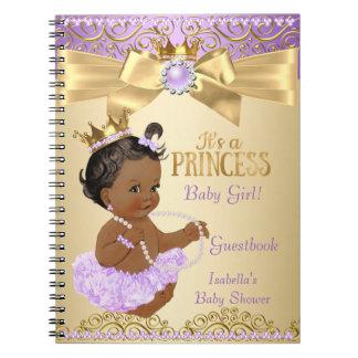 Princesa chá de fraldas da bailarina do ouro do cadernos espiral