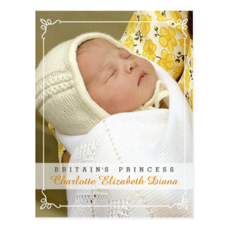 Princesa Charlotte Elizabeth Diana - William Kate Cartão Postal