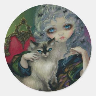 """""""Princesa com etiqueta de um gato de Ragdoll"""" Adesivo"""